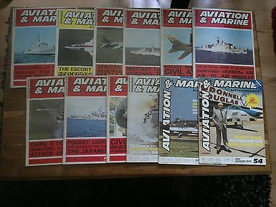 12 issues of Aviation & Marine International in acceptable condition - very rare