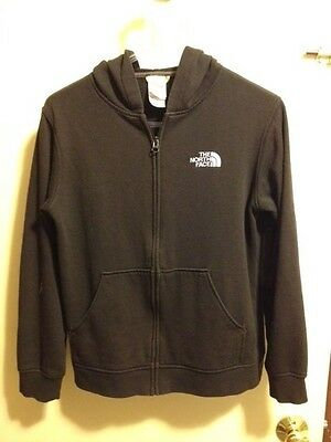 Black The North Face Full Zip Hoodie Zip Jacket Youth L Large