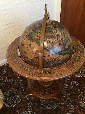 Olde world globe drinks cabinet excellent condition