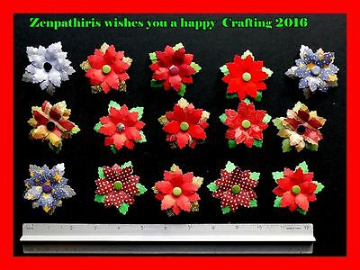 Collection of Christmas flowers to add to your Christmas projects, BARGAIN PRICE