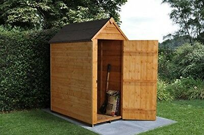 Overlap Wooden Storage Security Shed 3x5ft Autumn Gold Padlock Ready Christmas