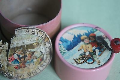 Antique Swiss made Music Box Antique Toy Signed
