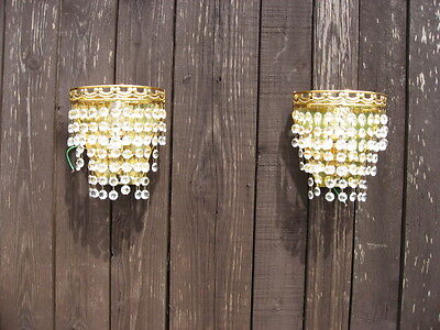 A Pair Of Vintage Deme Lune Wall Lights Fully Working Superb Quality /3774