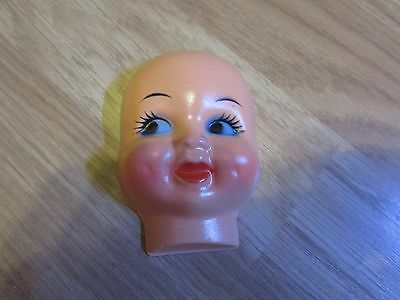 Vintage 3 Inch Plastic Dolls Face For Doll Making By Goodwear