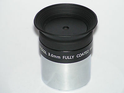 """1.25"""" 3.6mm fully coated plossl telescope eyepiece lens with 1.25"""" filter thread"""