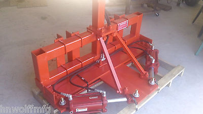Wolff Hydraulic Tree Shear for farm tractor 3-point, FEL, or Skidsteer