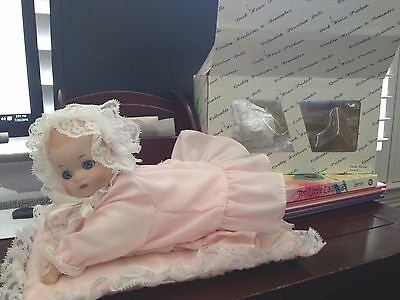 Duck House Quality Heirlooms 9 Inch Porcelain Collector's Doll pink W/ Box baby
