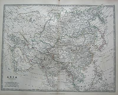 1868 Large Victorian Map : Asia