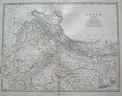 1868 Large Victorian Map : India Northern Sheet