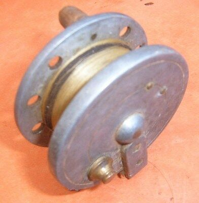 Vintage Unidentified Maker Metal Centrepin Fishing Reel. Working Ratchet.