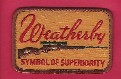 """Weatherby Rifle Gun Hunting Patch """"Symbol Of Superiority"""""""
