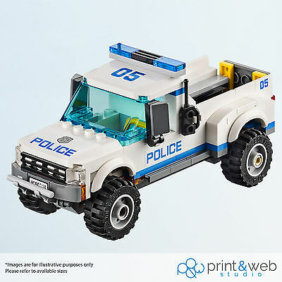 Lego City Undercover Vinyl Decal Wall Sticker Kids Police Car