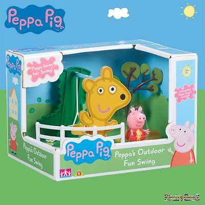 Pig Peppa Pig - Peppa's Outdoor Fun Swing Playset with Peppa Figure