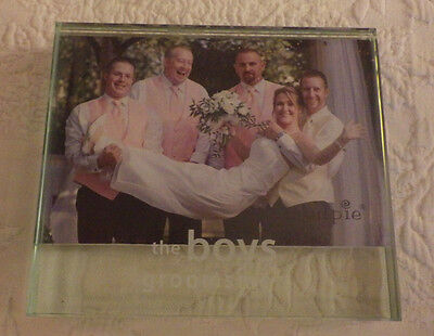 Mudpie Clear Glass The Boys Groomsmen Holds 4 X 6 Photo Picture