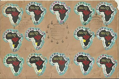 Sierra Leone Cover shape of Africa 1968 14 vals free