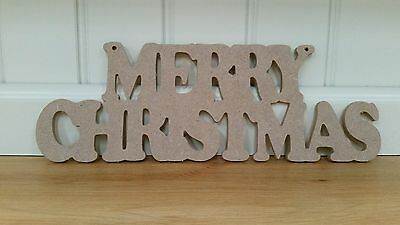 Merry Christmas MDF hanging Sign Plaque Wooden Letters Xmas  Words