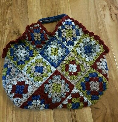 Hand crotchet bag medium size perfect gift and storage for crotchet items!