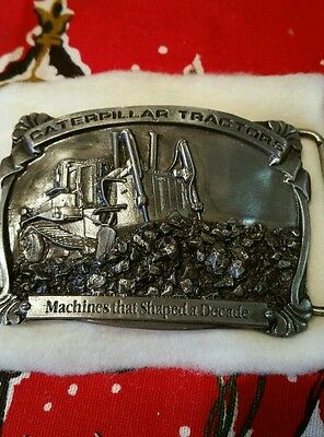 Vintage Caterpillar tractor co. Belt buckle, limited edition, numbered