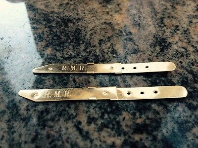Vintage 14k Solid Yellow Gold Collar Stays Bar