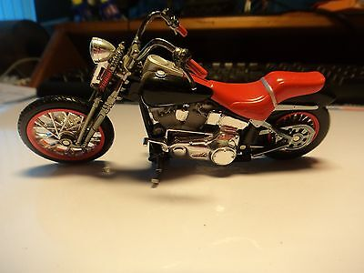 diecast model motorcycle FLHR motorcycle in black and Red