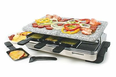 Swissmar 8-Person Eiger Raclette with Reversible Cast Iron Grill Plate