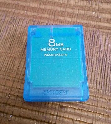 Carte Memoire PS2 Sony Playstation 2 8MB Memory Card blue
