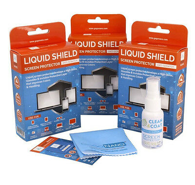 Liquid Glass Screen Protector Invisible 9H First-Defense work for All Devices