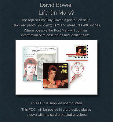David Bowie Life On Mars? Replica First Day Cover