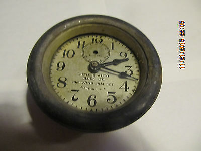 Elgin 8 day and Keyless Auto Car Clock for parts or restore. Sold as Pair