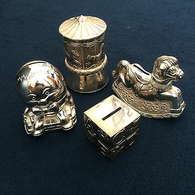 Job Lot Silver Plated Money Box Silver Plated Christening Gifts Silver Money Box