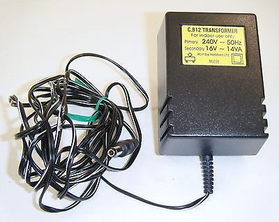 Hornby Scalextric Power Supply / Transformer C912 16 Volt, Ex Cond, Hardly Used