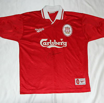 John Barnes Signed Liverpool Football Club Shirt with COA