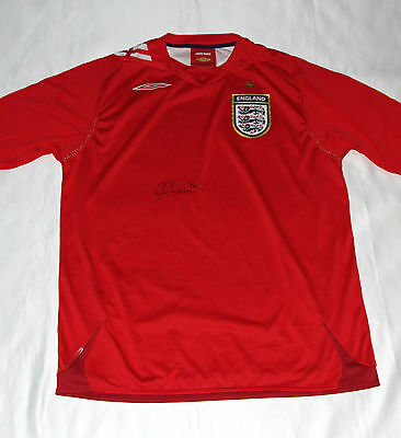 Michael Owen Signed England Football Shirt with COA