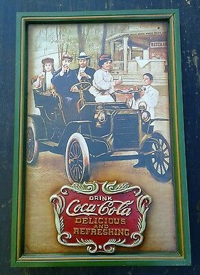 Drink Coca Cola-Ice Cold Delicious Refreshing,Embossed Advertising Wooden Sign