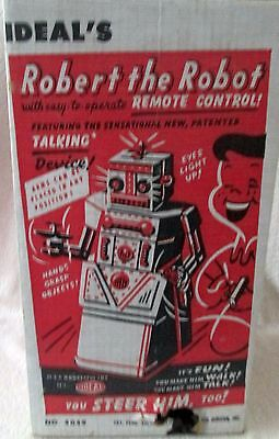 Ideal 's Robert the Robot Remote Control with box 1950's - Attic Find-unplayed