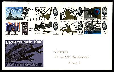 September 13, 1965 Liverpool Uk Battle Of Britain Illustrated Cover