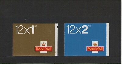 2009 SELF ADHESIVE 1st & 2nd CLASS BARCODE BOOKLETS OF ROYAL MAIL MINT STAMPS