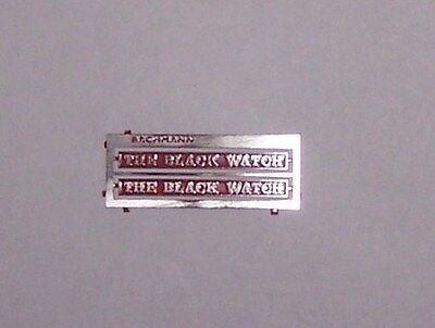 00 Bachmann Hornby/Lima NAMEPLATES for class 55013 The BLACK WATCH red finish