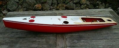 Vtg Remote Control Tony Abel Model Racing Yacht For Spares or Repair