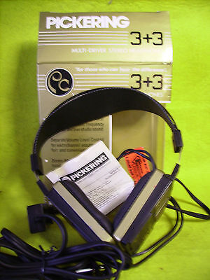Pickering Stereo / Mono Multi-Driver Headphones With Box