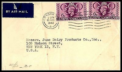August 10, 1948 London Uk Olympic Games Issues On Cover New York