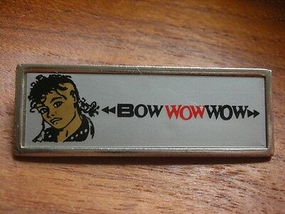 Bow Wow Wow Metal Insert Music Pin Badge