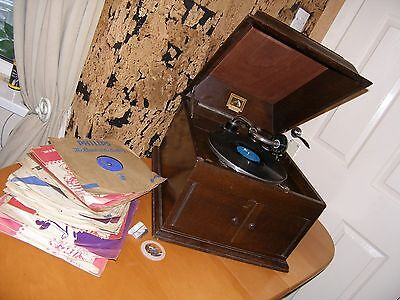 "HMV model 103 Gramophone / Phonograph. Vintage 1920s ""wind up"" style."