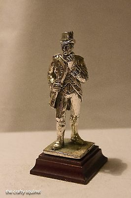 Royal Hampshire, Military Figure, Silver Plated Pewter