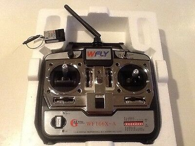 WFLY 6 channel 2.4 GHz Transmitter and receiver. New.