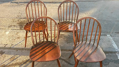 Four vintage Ercol chairs