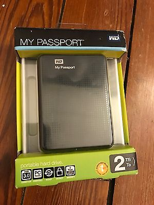 Disque dur Externe USB 3 WD my passport 2 To Hard disk NEUF