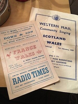 Welsh Rugby Programmes