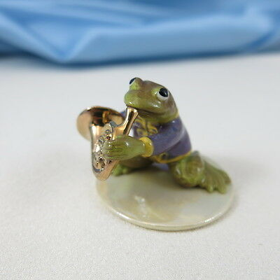 Hagen Renaker Specialty Toadally Brass Frog 'French Horn Player'