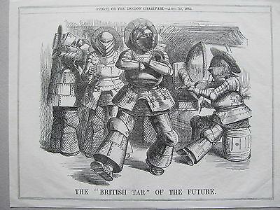 Political Cartoon From Punch - Antique Print - Published - 1862